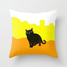 Cats Life 3 Throw Pillow