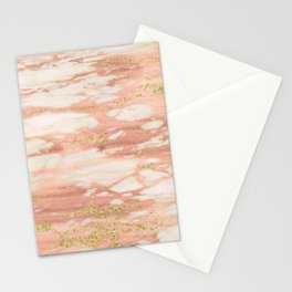 Sorano rose gold marble Stationery Cards