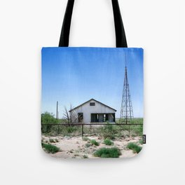 Somewhere on the Old Pecos Highway #4 Tote Bag