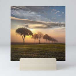 Big sky and clouds on a picture perfect night Mini Art Print