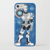liam payne iPhone & iPod Cases featuring Liam Payne - Cyborg by allthreeplease