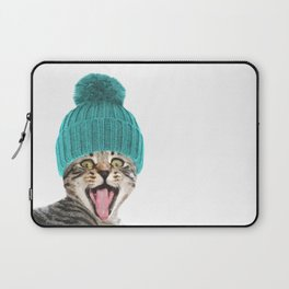 Cat with hat illustration Laptop Sleeve