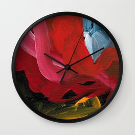 Snake In The Grass Wall Clock