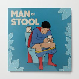 Man of Stool Metal Print
