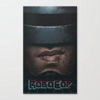 robocop Canvas Prints featuring RoboCop by yurishwedoff