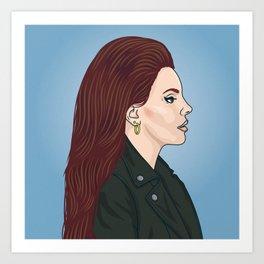 Lana Portrait Art Print