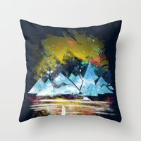 iceland Throw Pillows featuring iceland islands by frederic levy-hadida