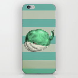 Tubby Sketch Whale iPhone Skin