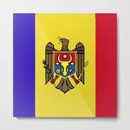 Moldova flag emblem Metal Print