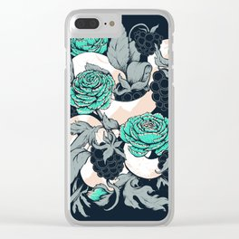 Berries and Snake Florals Clear iPhone Case