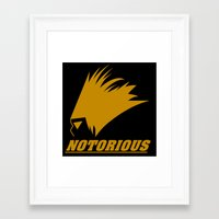 notorious Framed Art Prints featuring NOTORIOUS by Robleedesigns