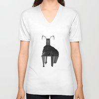 buffalo V-neck T-shirts featuring Buffalo by Panic Junkie
