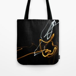 Long Exposer Super Moon and Street Light Tote Bag