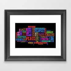 GOOD VIBRATIONS Framed Art Print