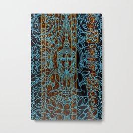 Royal Cambodian Gates: Original Turquoise Metal Print