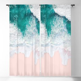 Pink Sand Beach Blackout Curtain