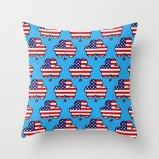 American Shamrock Throw Pillow