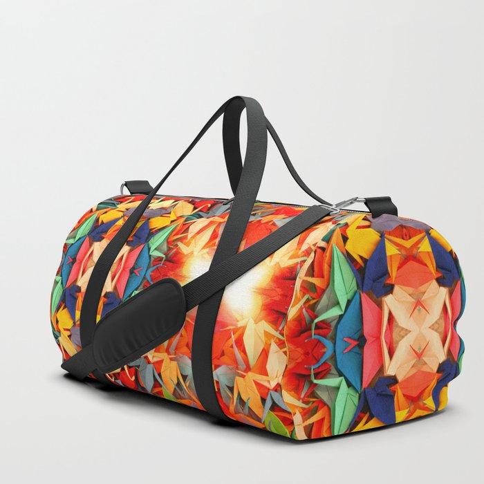 Senbazuru rainbow Duffle Bag