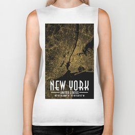 New York City Poster Biker Tank