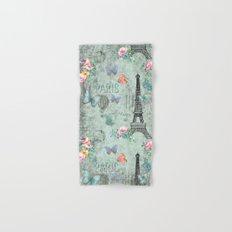 Paris - my love - France Eiffeltower Nostalgy- French Vintage on #Society6 Hand & Bath Towel