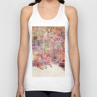 los angeles Tank Tops featuring Los angeles by MapMapMaps.Watercolors