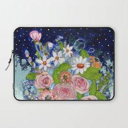 Celestial Sky Flower Garden Laptop Sleeve