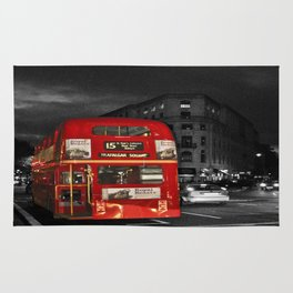 Red Routemaster London Bus Rug