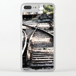 Abandoned Rail Tracks Clear iPhone Case
