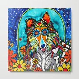 Colby the Collie Metal Print