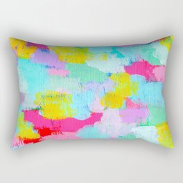 Cotton Candy Planet - Abstract Modern Painting Rectangular Pillow