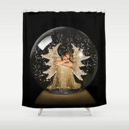Sleeping Angel Shower Curtain