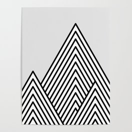 Linear Mountains Poster