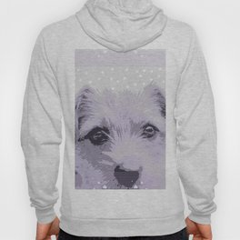 Curious little dog waiting for you - funny dog portrait Hoody
