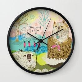 Sheep chillaxing Wall Clock
