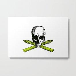 skull asparagus Metal Print