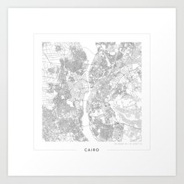 Cairo Map 2 Art Print