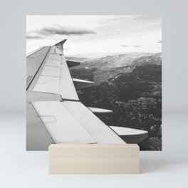 Mountain State // Colorado Rocky Mountains off the Wing of an Airplane Landscape Photo Mini Art Print