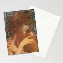 The Woman and the Serpent portrait painting by Lucien Levy Dhurmer Stationery Cards