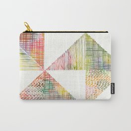 Abstract Geometric Watercolor by Zouzounio Art Carry-All Pouch