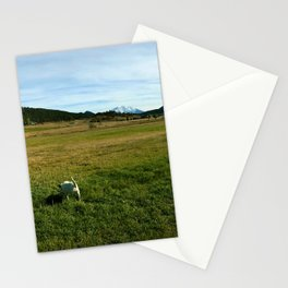 Mount Sopris and Puppies - Glenwood Springs, CO Stationery Cards