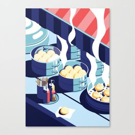 A night out in Seoul - Part 5 - Dumplings Canvas Print