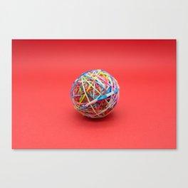 ball made with elastics Canvas Print