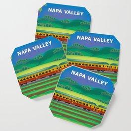 Napa Valley, California - Skyline Illustration by Loose Petals Coaster