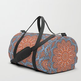 Blue - orange kaleidoscope Duffle Bag
