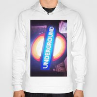 velvet underground Hoodies featuring underground by dillon hesse