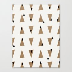 Triangles(Gold and Black) Canvas Print