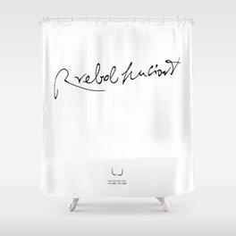 RREBOLHUCIONT Shower Curtain