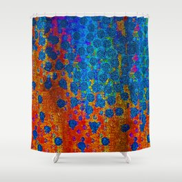 Burning Textile Drops Shower Curtain