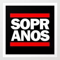 sopranos Art Prints featuring Sopranos DMC by htsvll
