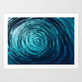Sapphire Vortex Art Print